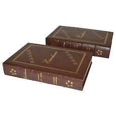 """Eisenhower"" by Stephen E. Ambrose Two Volume Leather Bound Set"