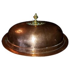 Beautiful Hand Hammered Tinned Oval Copper Serving Tray