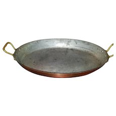 Tinned Copper Oval Baking Pan by Bazar Francais