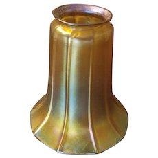 Signed Quezal Aurene Lamp Shades