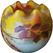 Artist Signed Hand Painted Vase