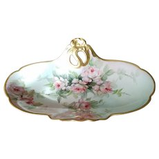 Superb Large  Limoges France Hand Painted Tray