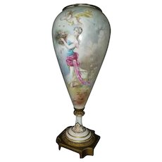 An Ormolu-Mounted Sevres Style Porcelain Vase/Lamp—Signed Albert