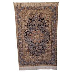 """Collector's Wool on Persian Silk Isfahan Rug 5' 7"""" X 3' 6"""""""