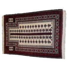 "4' 2"" X 3' 11"" Baluch Prayer Rug Design"