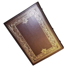 """""""A Stillness at Appomattox"""" by Bruce Catton a Leather-Bound Book Published by The Franklin Library"""