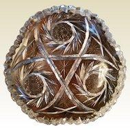 American Brilliant Cut Glass Nappy
