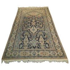 Beautiful Investment Grade Ivory Vintage Nain Persian Rug,