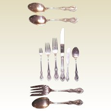 Lambeth Manor by International Silver Co. Sterling Silver Flatware Set 60 Pcs.