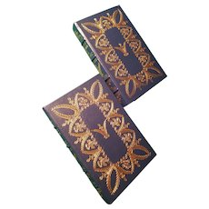 """""""Experience of War"""" by Kenneth S. Davis, A 2 Volume of Leather-Bound Books Published by Easton Press"""