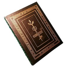 """On the Origin of Species"" by Charles Darwin, A Leather-Bound Book Published by Easton Press"