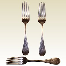 Magnificent 3 Dinner Forks by Shreve Crump & Low