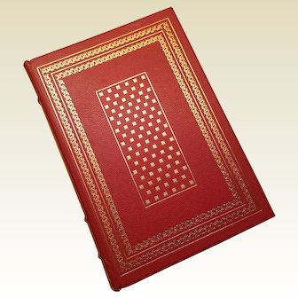"""""""Red Badge of Courage"""" by Stephen Crane, A Leather-Bound Book Published by The Franklin Library"""