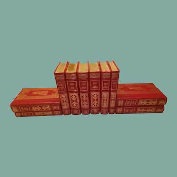 A 10 Volume Library of Charles Dickens's Best Works Bound in Leather and Leatherette