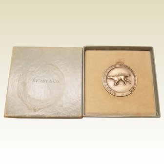 Classic Westminster Kennel Club Sterling Silver 1971 Best of Breed Medallion by Tiffany & Co