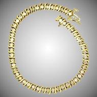 Gorgeous Vintage 3ct Diamond Bracelet with 14K yellow Gold