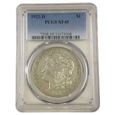 RARE 1921 Silver Morgan Dollar Coin from US