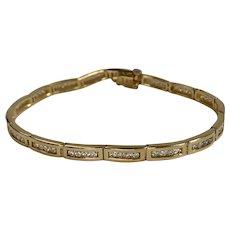 2ctw Channel Set Diamond Line Link Bracelet in 14K Yellow Gold