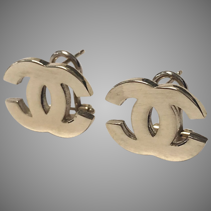 Coco Chanel Stud Cc Logo Earrings The Best Produck Of Earring
