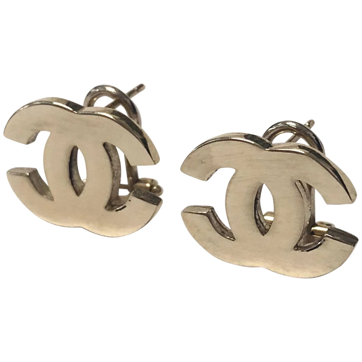 Vintage Reproduction Coco Chanel Earring Studs 14k Yellow Gold
