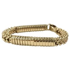 14K Italian Yellow Gold Stretch Bracelet