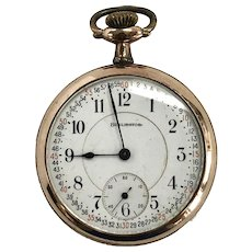 1921 Berlington Pocket Watch Vintage 25 Year Gold