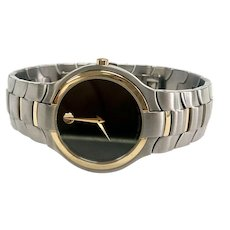 Men's Stainless Steel Two-Tone Movado Watch with Quartz Movement