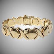 Vintage Xs & Os 14K Yellow Gold Bracelet