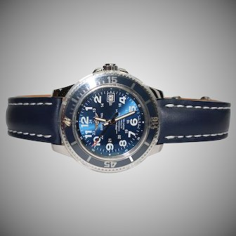 Breitling 1884 Superocean Heritage II 46 Gun Blue Dial Men's Watch & Blue Leather Band