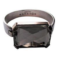 Maison Martin Margiela Vintage Sterling Silver Crystal  Bracelet