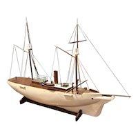 A live steam powered sailing ship.