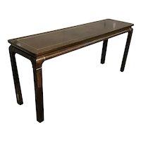 Mid-century modern console table by John Stuart.