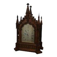 English 19th century Gothic Revival Bracket clock.