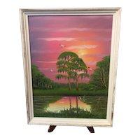 A Florida Highwaymen oil painting by Al Black.