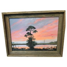 A Highwaymen style of painting by Tracy Newton, son of Hall of Fame artist Sam Newton.