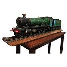 """An English 3.5"""" gauge live steam GWR locomotive."""