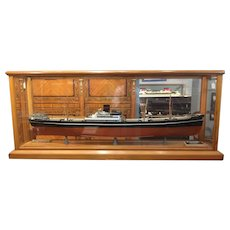 A shipbuilders model of a freighter circa 1935.