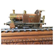 """English 3.5"""" gauge live steam locomotive, no guarantee of being in running condition."""