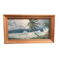 Original Florida Highwaymen painting by Hall of Fame artist Isaac Knight.