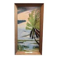 Original Highwaymen painting by Hall of Fame artist Rodney Demps.