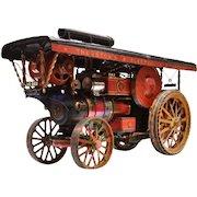 A British built live steam traction engine.