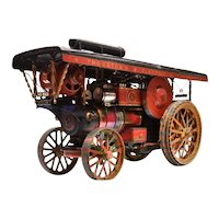 A hand built live steam Traction Engine or Road Locomotive.