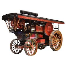 A live steam Traction Engine or Road Locomotive.