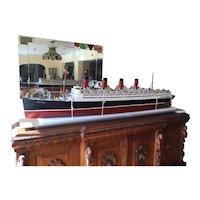 A very fine English built model of the RMS Aquitania.
