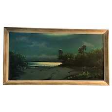 A Florida Highwaymen oil painting by hall of fame artist Harold Newton.