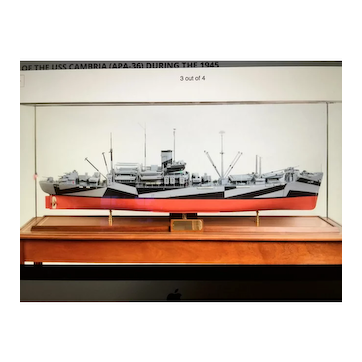 A Fine Quality model of the USS Cambria.