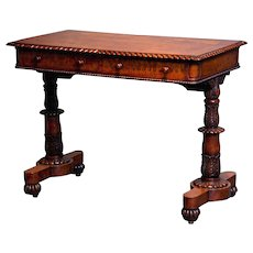 An English Antique Ladies Writing Table in the manner of Gillows of Lancaster.