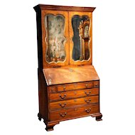 An English Antique Mahogany Secretary or Bureau Bookcase. circa 1790