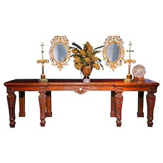 A William IV period English Antique Console or Serving Table in Mahogany.