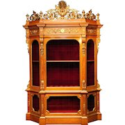 A Magnificent Cabinet currently for use as a Gun Cabinet, circa 1860.